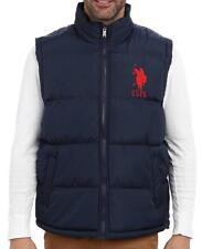 NEW US POLO ASSN MENS PREMIUM ATHLETIC CLASSIC PUFFER ZIP UP BIG PONY NAVY VEST