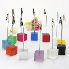 DIY craft metal wire photo&card&picture&memo clip holders Resin Stand Display ED