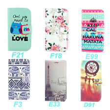 Wallet Various Design Leather Stand Case Cover For LG G3 D850 D855 F400 + Stylus