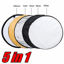 80cm / 110cm 5-in-1 Pro Photo Photography Light Mulit Collapsible Disc Reflector