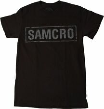 Sons of Anarchy SOA SAMCRO Logo Officially Licensed NWT Adult Black T-Shirt