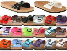 WOMENS BIRKENSTOCK RELAX 100 FLAT FOOTBED SANDALS SHOES SIZES 3-8 SECONDS BOXED