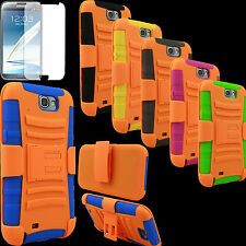Case for Samsung GALAXY Note II 2 Holster BMWK Skin Belt Clip PC Silicone Screen