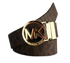 BRAND NEW WOMEN'S MICHAEL KORS REVERSIBLE MK LOGO BELT BROWN/BLACK 551342