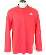 Adidas Signature Climalite Red 1/2 Zip Long Sleeve Running Shirt Mens NWT