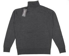 JOHN SMEDLEY Repton Roll Neck Merino Jumper in Charcoal ~ M