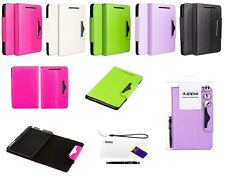 Leather Wallet Case Cover With Screen Guard & Stylus for Google Nexus 7 1st Gen