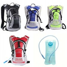 Cycling Bicycle Bike Climbing 4L Backpack Pack w 2L Hydration Bladder Water Bag