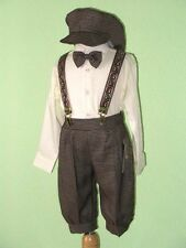 Boy Infant, Toddler Knickers Vintage Outfit , Ivory/Dark Brown,12 Month to 4T