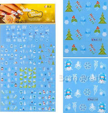 Christmas Patterns Santa Snowflake Theme Nails & Tattoos Water Decals Stickers