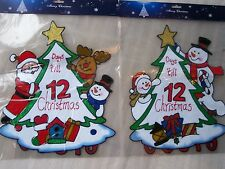 Count Down To Christmas Window Cling Advent Calendar with Santa or Snowman 35cm
