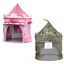 Princess Pop Up Castle / British Army Indoor/Outdoor Toy Play Tent Playhouse Den