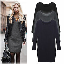 New Women's Sexy Casual Mirco Velvet Round Collar Woolen Thickening Render Dress