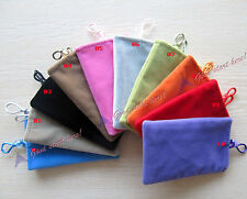 Colorful Soft Velvet Pouch Pocket Case For iPod Iphone Universal Cell Phone MP3