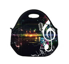Black Music Insulated Tote Thermal Bag Lunch Bag/Cooler Bag/Lunch Box/Picnic Bag