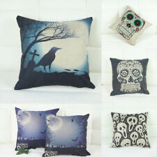 Halloween Theme Skull Sofa Throw Decorative Pillow Case Car Back Cushion Covers