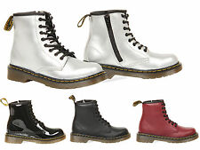 KIDS CHILDREN DELANY DR MARTENS CASUAL LACE UP LEATHER ANKLE BOOTS SHOES SIZE
