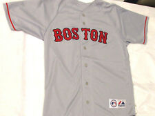 Majestic Men's Boston Red Sox Gray Blank Jersey BRAND NEW
