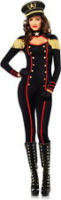 Sexy Military Major General Officer Catsuit Halloween Costume Outfit Adult Women