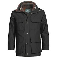 NWT Woolrich Men's Wool Lined Mountain Parka Black Sizes L, XL and 2XL MSRP $179