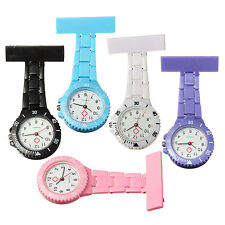 6 Colors Style Nurse Watch With Pin Fob Brooch Pendant Hanging Pocket Fob watch