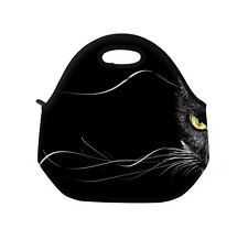 Black Cat Outdoor Insulated Lunch Tote Bag Picnic Bag Cooler Lunch Box Handbag