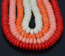 """Natural CORAL Gemstone Roundlle Beads in 16""""   2x4mm,3x5mm,4x7mm"""