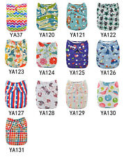 Adorable Alva Reusable Baby Washable Cloth Diaper One size Nappy with 1 Insert