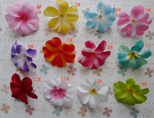 "30,100 Hawaiian Plumeria Frangipani Artificial Silk Flower Heads 3"" 12color"