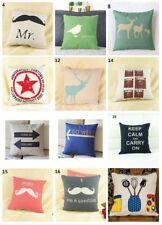 """Coffee Fashion linen Throw Pillow Cases Home Decorative Cushion Cover 16.5"""""""