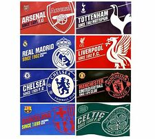 OFFICIAL FOOTBALL CLUB - FLAGS 5ft x 3ft - Established & Crest (Large/Body/Flag)