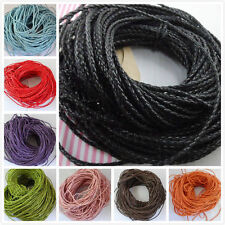 5/10m Man-made Leather Braid Rope Hemp Cord For Necklace Bracelet 3mm Free ship