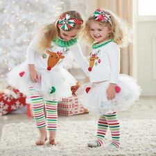 Christmas Baby Toddler Girls Tulle Tutu Pants Dress Skirt Leggings XMAS gift UK