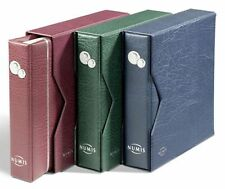 Deluxe padded Numis coin album with Slipcase and 5 mixed pages