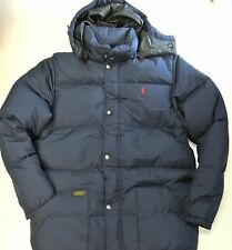 Polo RALPH LAUREN boys sz 12 months jacket down puffer navy blue infant NEW