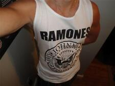 THE RAMONES T-SHIRT TOMMY JOHNNY JOEY DEEDEE  HEY HO LET'S GO S M L XL Tank TOP
