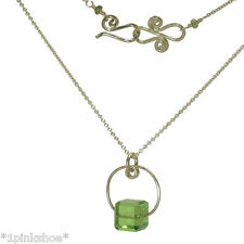Sicily 001 ~Baguette Cut Stone Choice Pendant Necklace with Metal Choice
