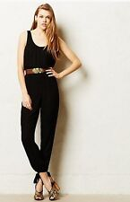 NWT Anthropologie Anacapa Romper Jumpsuit S SP BLACK By HARLYN Minimalist