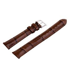 Quality Genuine Leather Alligator Crocodile Grain Watch Strap Band Womens Mens