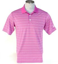 Adidas Golf ClimaLite Pink Stripe Short Sleeve Polo Shirt Mens NWT