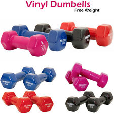 Vinyl Dumbbell Set Weights Ladies Training Aerobic Strength Training Gym Home ★★