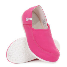 WOMENS HEY DUDE TAORMINA FUCHSIA FLAT LOAFERS DECK SHOES LADIES UK SIZE
