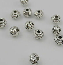 Wholesale lot 100/500Pcs Tibetan Silver Spacers Beads For Jewelry Making 6x5mm