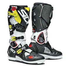Sidi Crossfire 2 SR SRS Boots White / Black / Flo Yellow Replaceable Soles NEW