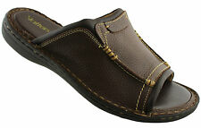SLATTERS NOWRA MENS LEATHER SANDALS/SHOES/COMFORTABLE/CASUAL/SLIP ON SLIDES