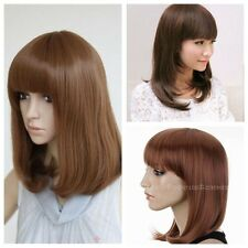 Hot Medium Long Straight Cosplay Fashion Wig Multicolor Costume Party Full Wigs
