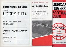 Doncaster HOME programmes 1974 1975 1976 1977 FREE P&P UK Choose from list