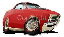 1967 Chevy Chevelle SS Cartoontees T-SHIRT VINTAGE CLASSIC 6823