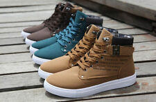 2015 Hot New Men Shoes Fashion Leather Shoe For Men Casual High Top + gift