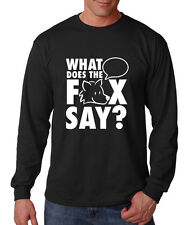 WHAT DOES THE FOX SAY? Long Sleeve Unisex T-Shirt Tee Top